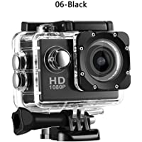 ZHUOTOP 1080P Waterproof Camera Universal Full HD Action Camera Black