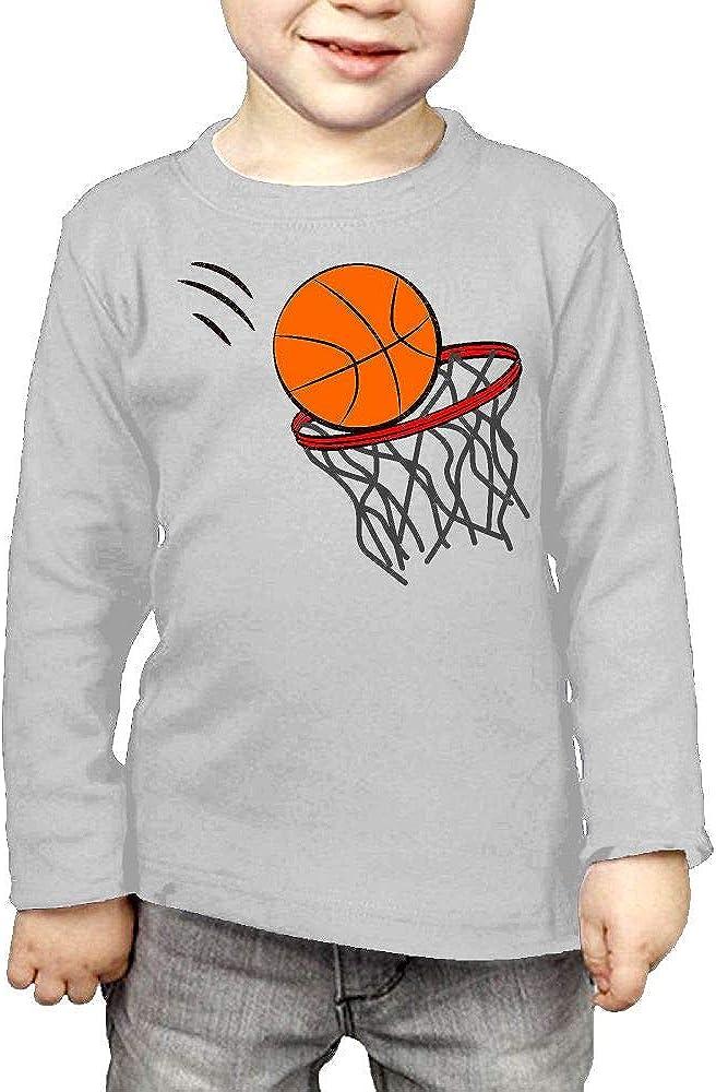 CERTONGCXTS Childrens Basketball Hoop ComfortSoft Long Sleeve T-Shirt
