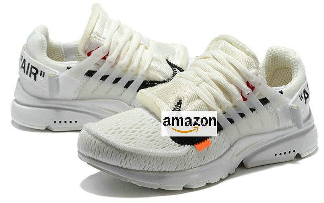 530e34fdbb2a7 off White X Air Presto White Black Chaussures de Homme Femme  Amazon.it  Scarpe  e borse