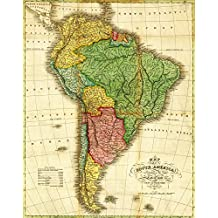 South America - Panoramic Map (9x12 Collectible Art Print, Wall Decor Travel Poster)