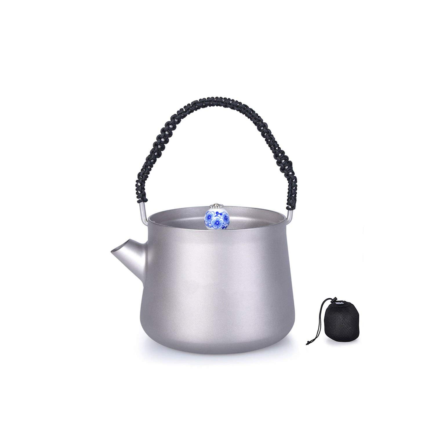 Coffee-Percolators Camping 230Ml Titanium Mini Kettle With Lid Handle Filter Water Coffee Tea Maker,Kettle