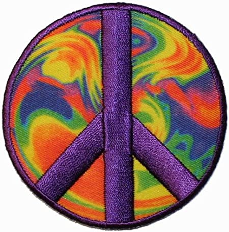 Embroidered Applique Peace Sign Patch