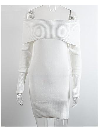 2150f17a273 FANGZHENG Autumn Winter Off Shoulder Knitted Bodycon Dress Women Sexy Long  Sleeve Party Dress New Short