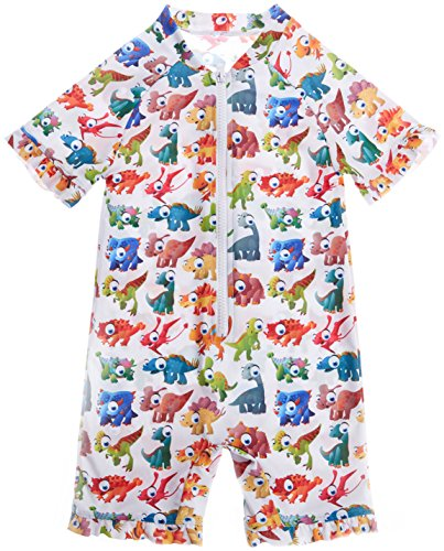 Price comparison product image BeautyIn Toddler Girls One Piece Rash Guard Swimsuit Dinasaur Bathing Suit