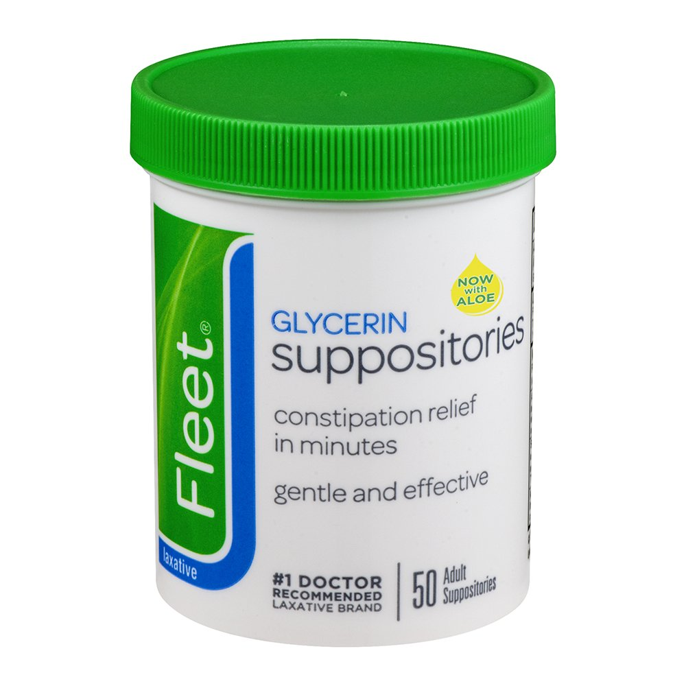 Fleet Laxative Glycerin Suppositories,50 Count, Pack of 12 by Fleet