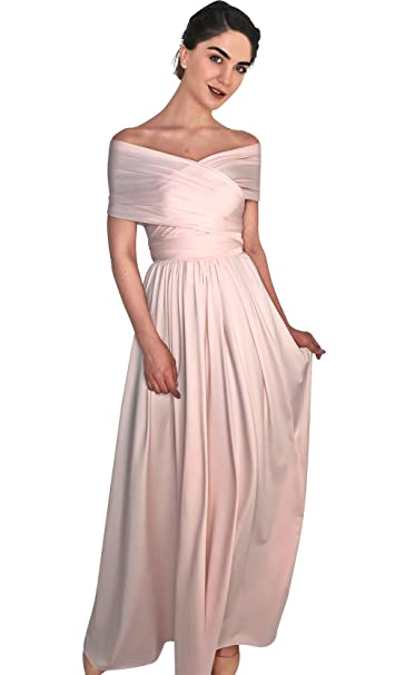 2e5b3151e60a 4Now Fashions Long Blush Pink Infinity Bridesmaid Dress Convertible Multiway:  Amazon.ca: Clothing & Accessories