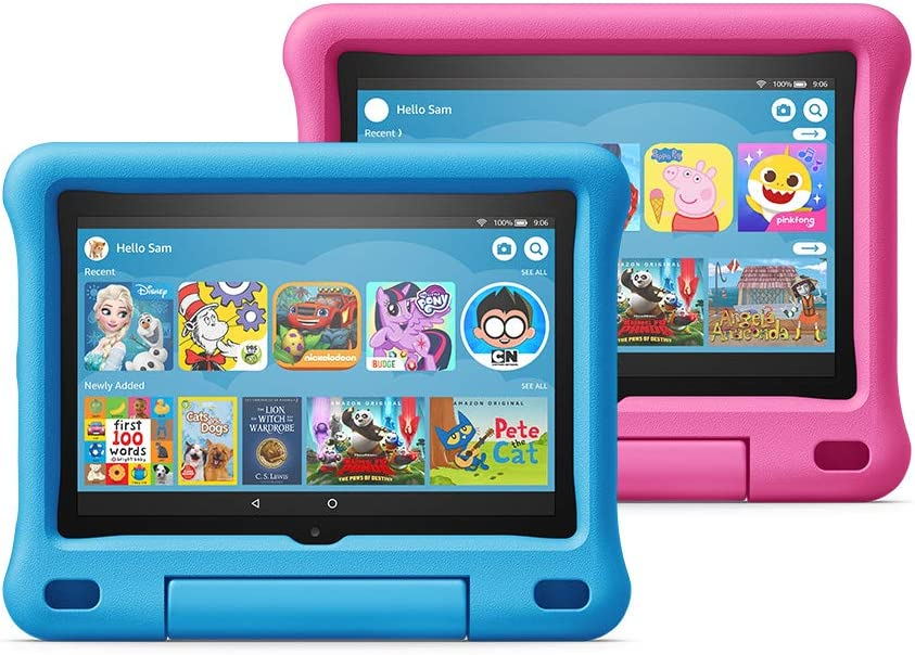 "All-new Fire HD 8 Kids Edition tablet 2-pack, 8"" HD display, 32 GB, Blue/Pink Kid-Proof Case"