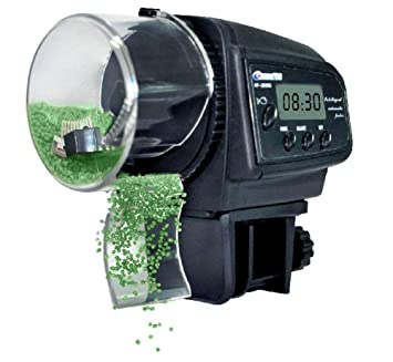 Alimentador automático de peces de acuario Alimentador automático de peces de tiempo Dispensador de alimentos para