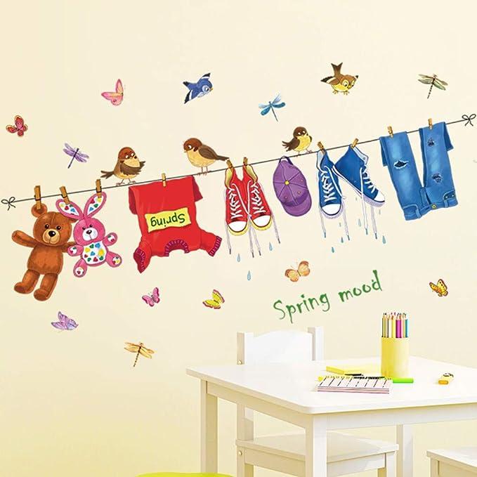 Pegatinas de pared perchero jardín de infantes aula ...