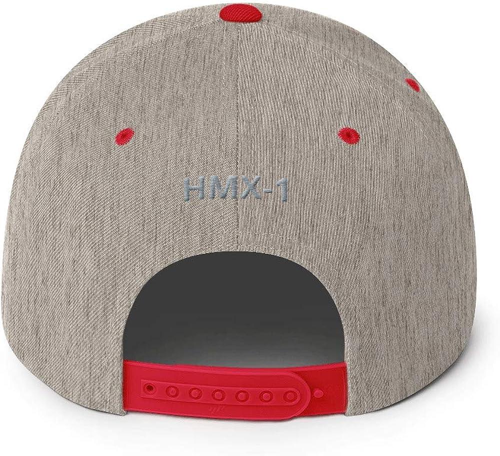 USMC//HMX-1 Hat-Snap Back Heather Grey//Red