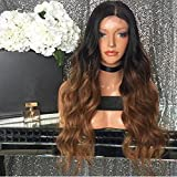 Natural Long Human Hair Lace Front Wigs Best Brazilian Remy Hair For Black Women 150 Density(18Inch)