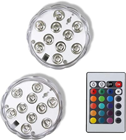 Hot Tub Accessories Battery LED 4 KINGWILL 10 RGB Waterproof Underwater Lights