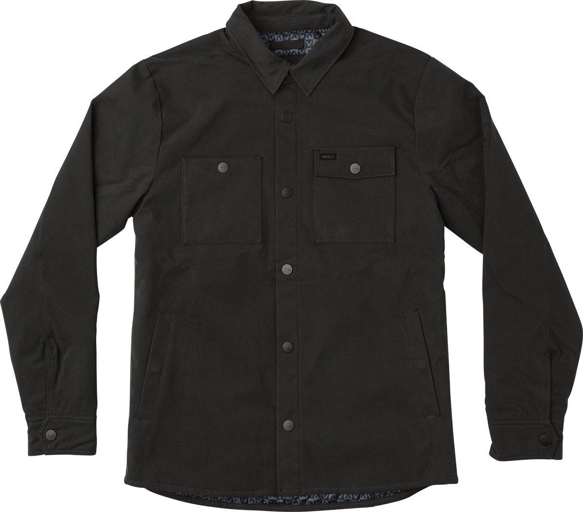 RVCA Men's Utility Shirt Jacket, Black, M