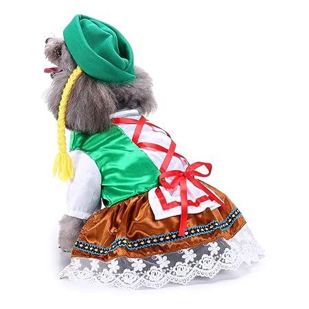 UTOPIAY Disfraz de Halloween para Perro, Ropa de mucama ...