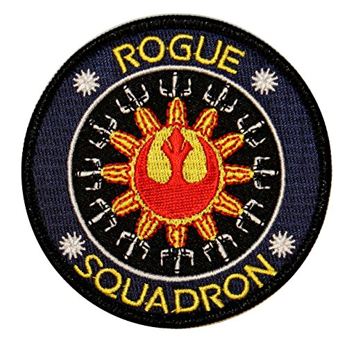 Rogue Squadron Logo X-Wing Rebel Alliance Star Wars Embroidered Iron On Patch ()