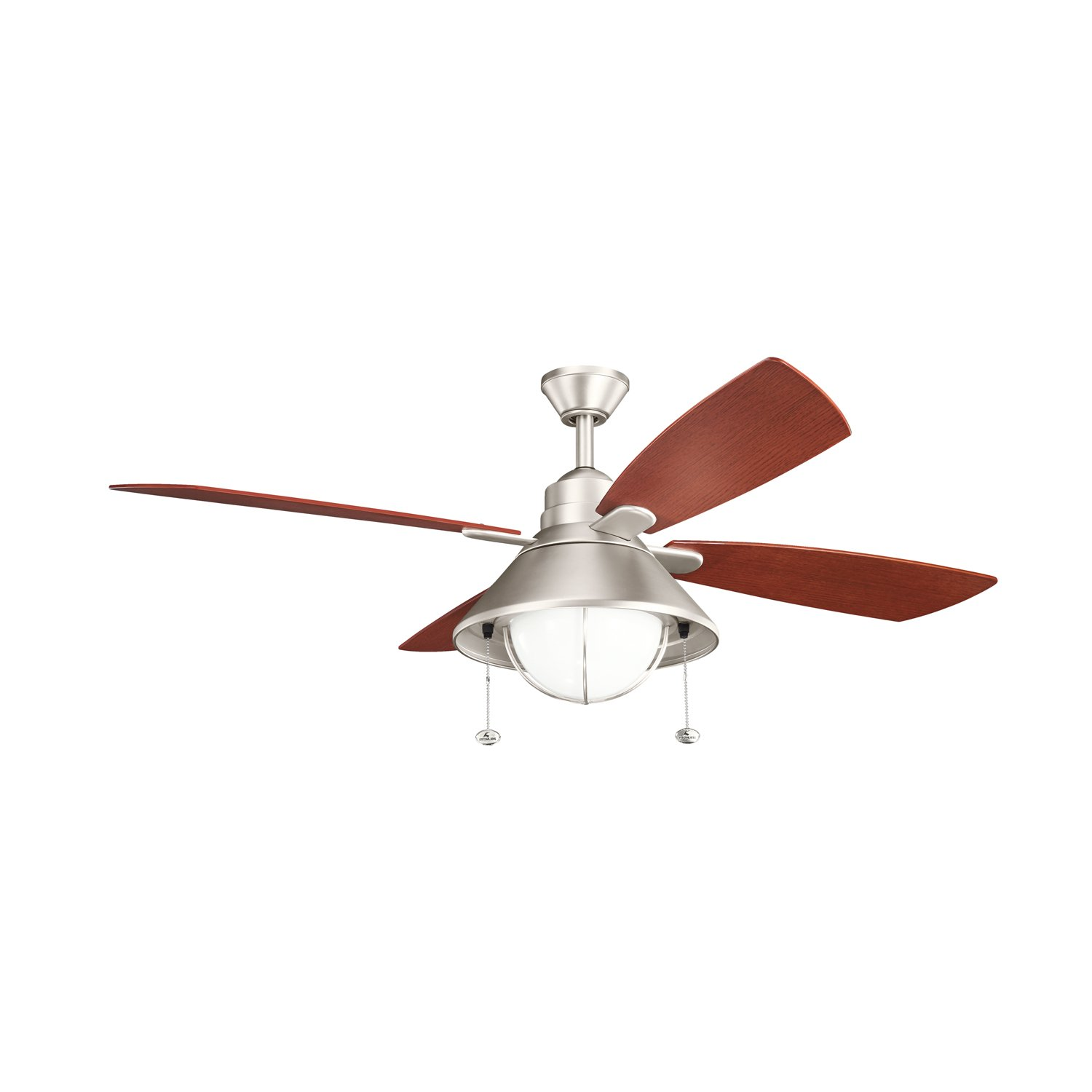 Kichler NI 54 Ceiling Fan Close To Ceiling Light