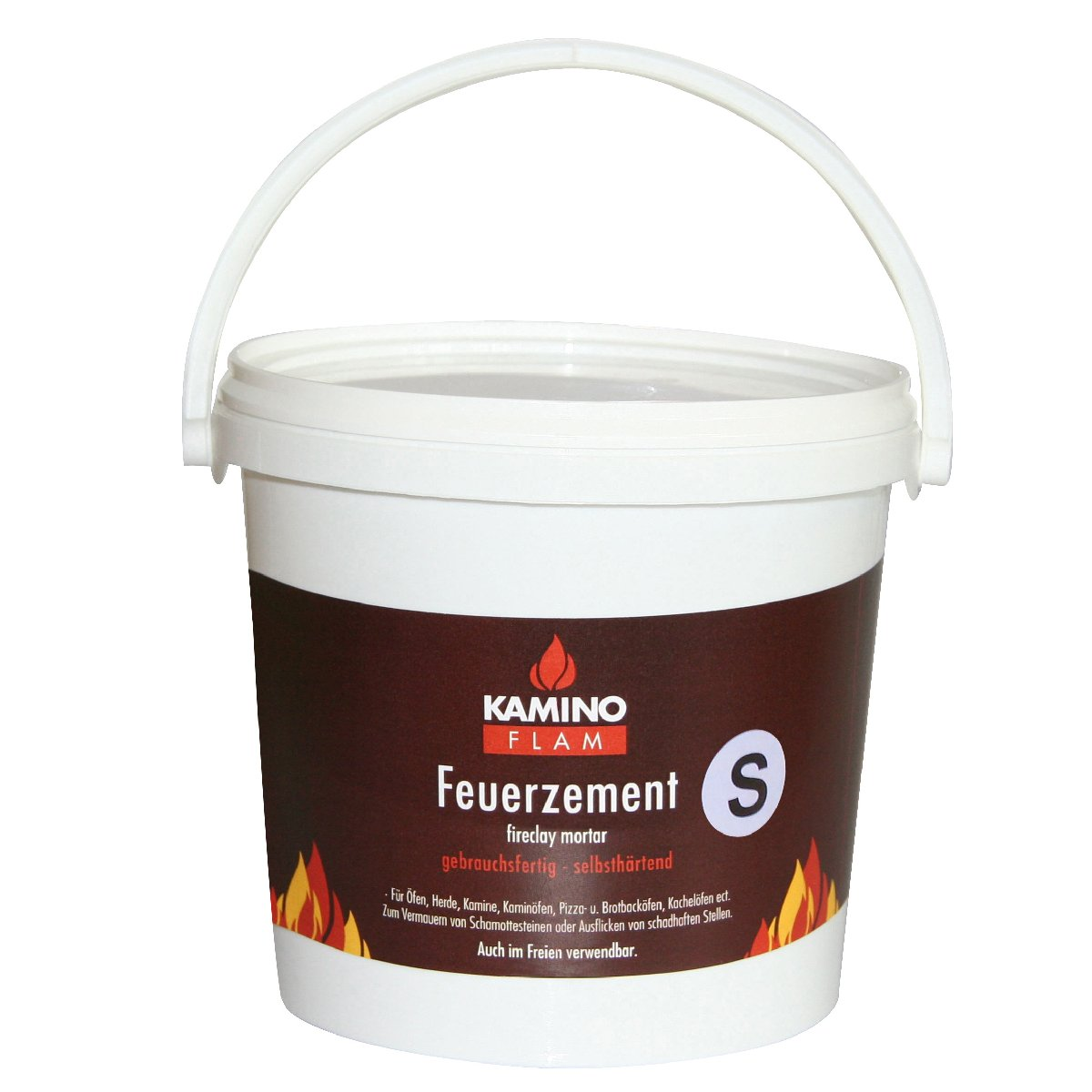 Kamino-Flam 122696 Cemento Refrattario S in Secchio, Grigio, 3 kg Kamino - Flam