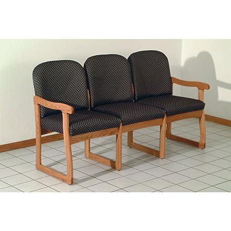 Amazon.com: Tres Asiento Oficina sofá (Slate arco): Office ...
