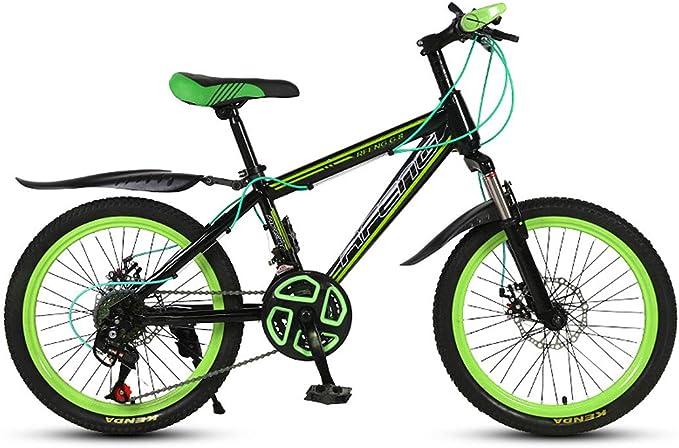 JiAODIE - Bicicleta de montaña para niños de 20 pulgadas con asiento ajustable, freno de disco doble: Amazon.es: Hogar