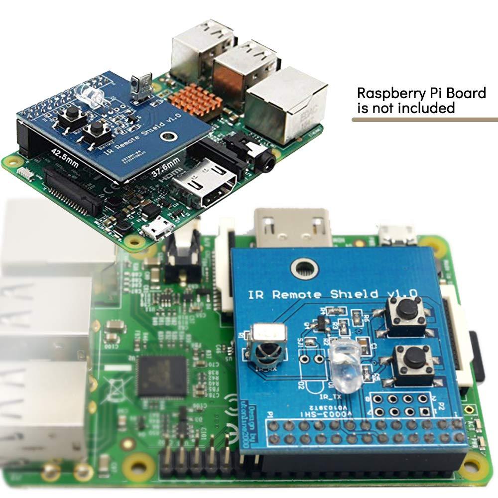 IR Transmitter Infrared Remote Hat Expansion Board 38KHz Transceiver Shield  for Raspberry Pi RPi B+/2B/3B