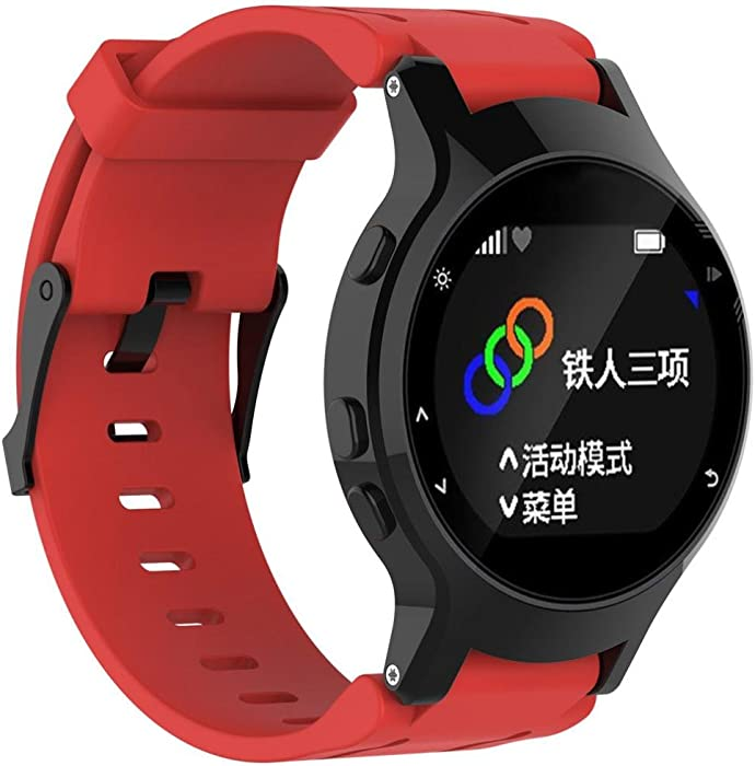 vesniba suave silicona Carcasa + caso de banda de reloj de pulsera de repuesto para Garmin Forerunner 225 reloj GPS