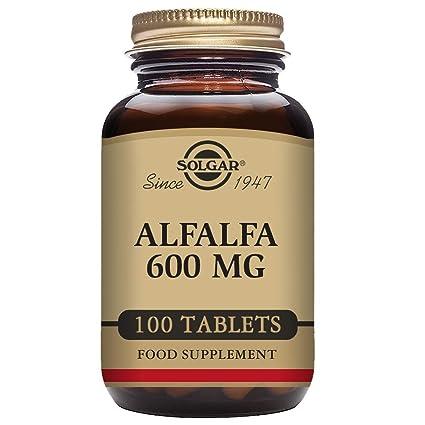 Solgar Alfalfa 600 mg Comprimidos - Envase de 100