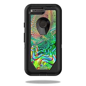 size 40 28e48 ac79a MightySkins Protective Vinyl Skin Decal for OtterBox Defender Pixel 5? Case  wrap Cover Sticker Skins Psychedelic