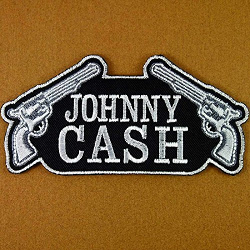 JOHNNY CASH Embroidered Iron On Patches # WITH FREE (Johnny Cash Patches)