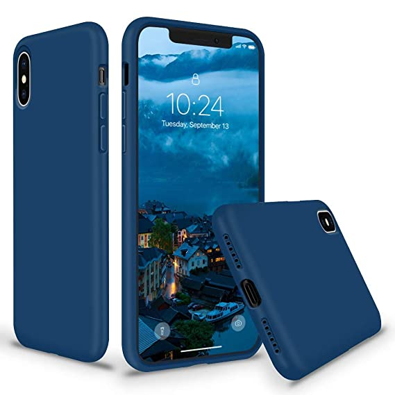 Amazon com: SURPHY Silicone Case for iPhone Xs Max, Thicken Liquid