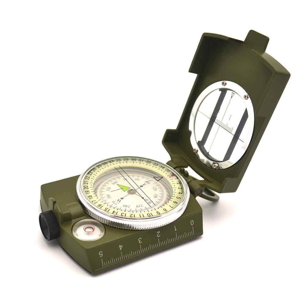 Kunbao Multifunktions Military Optische Linsenkompass Visieren Kompass Wasserdicht für Outdoor-Aktivitäten und Camping Wandern