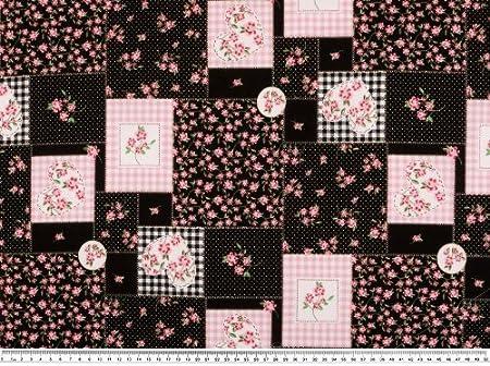 Baumwoll-Druck Patch 140cm rosa