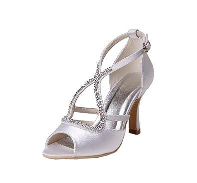 Kevin Fashion - Zapatos de boda a la moda Mujer , color Amarillo, talla 43 1/3 EU