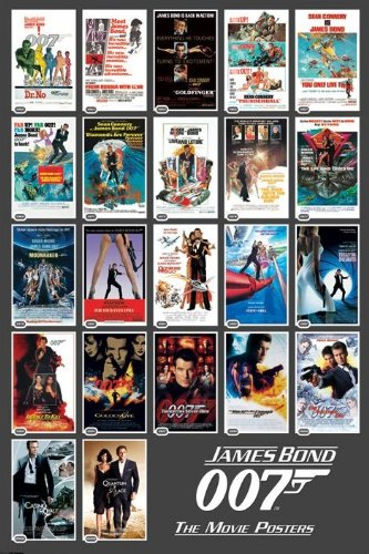 James Bond 22 Movie Posters Collection Print