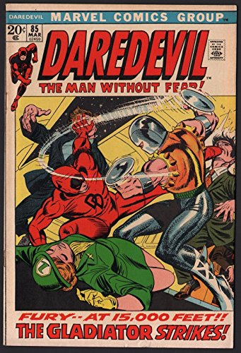 Daredevil (1964) #85 with Black Widow VF- (7.5) vs Gladiator Picture Frame Cover (Pictures Of Gladiators)