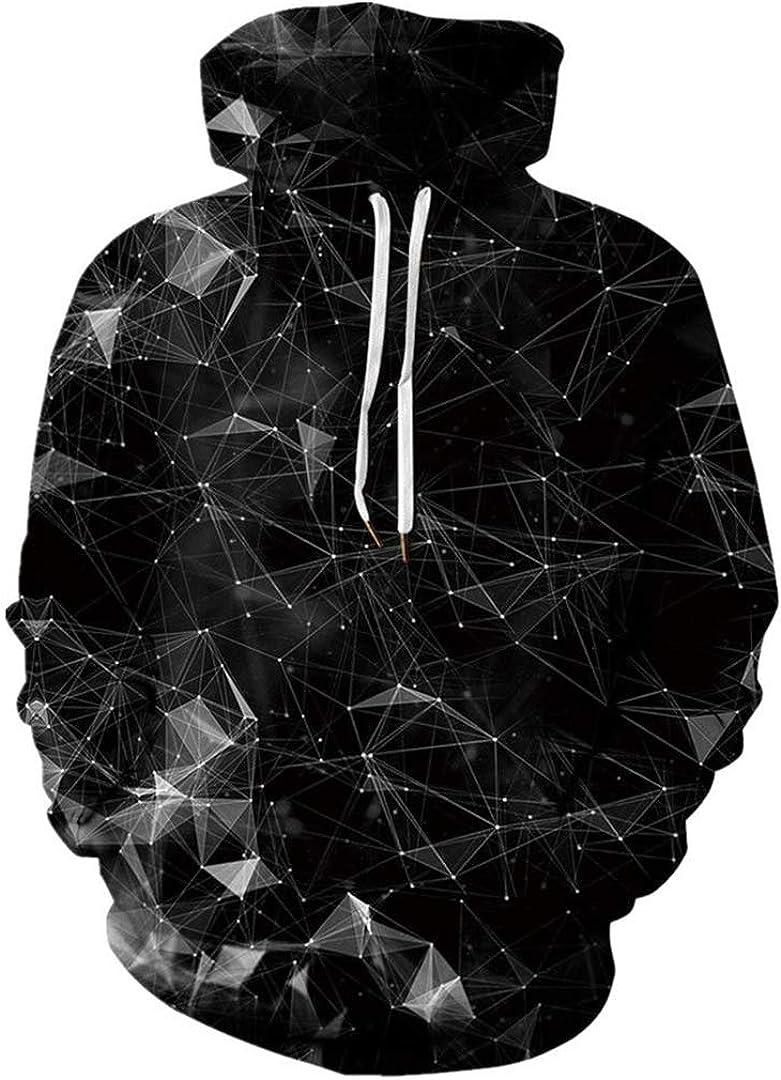 Man Hip Hop Punk Style Hooded Pullovers 3D Cool Print Starry Star Hoodie Sweatshirts Hood Blouse