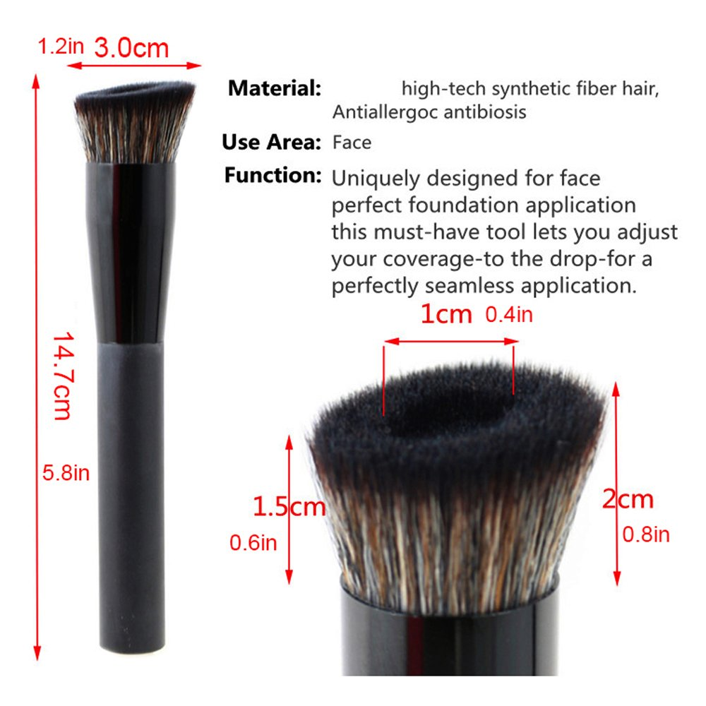 vela.yue Pro Liquid Foundation Brush for Natural Flawless Look - Angled Perfecting Face Brush VY