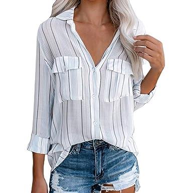 Levifun Blusa Mujer Elegante Sexy 2019 Camiseta de Mujer Sexy ...