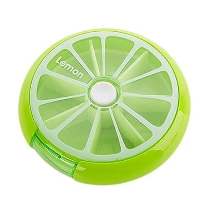 Cuidado de la salud medicina píldora Caja Diseño de frutas sort vitamina 7 Día semanal Tablet