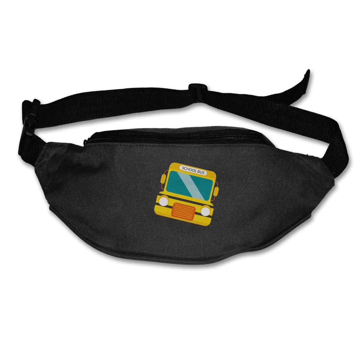 School Bus Sport Waist Bag Fanny Pack Adjustable For Run