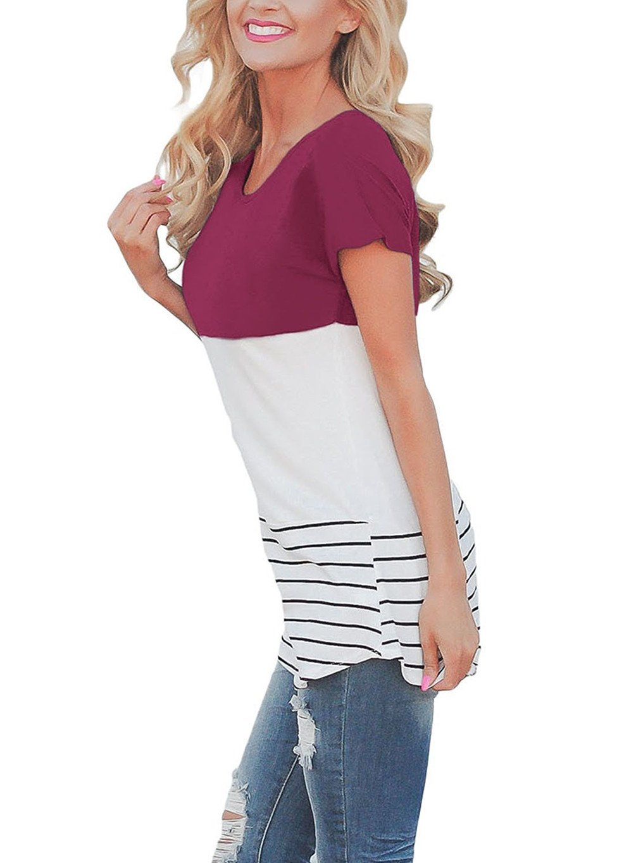 ARESHION - Camicia - Camicia - A righe - Maniche corte - donna