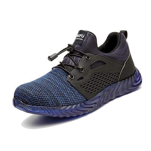 Zapatos de Seguridad para Hombre Zapatillas Deportivas de Mujer Puntera de Acero Calzado de Industrial Trabajo Construcción Botas Tácticas Trekking ...