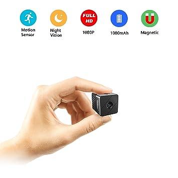 PORTOCAM T33 1080p HD portátil Grabador de vídeo pequeños Nanny CAM con visión Nocturna y detección