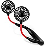 Hand Free Portable Fan USB Rechargeable, BroElec Personal Fan with Large Battery Capacity, 360 Degree Free Rotation…