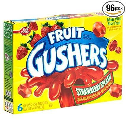 Frutas gushers Fresa Punch – 0,9 oz. Pocuh, 96 por Caso ...