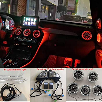 Car interior W205 led ambient light,car air jets vent,3D