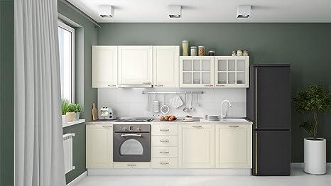 Blocco cucina Fagali 13, 10 pezzi, colore: avorio: Amazon.it ...