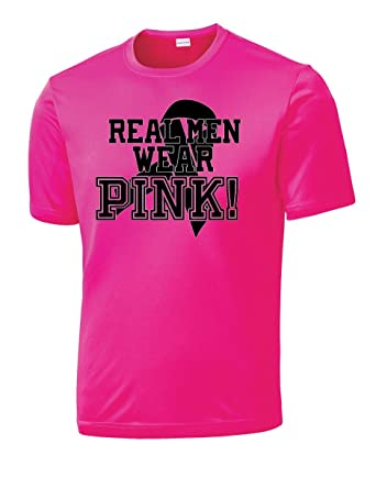 5f60374e6 Real Men Wear Pink Dri Fit Tee at Amazon Men's Clothing store: