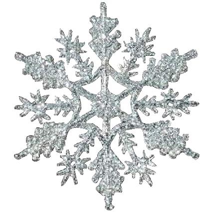 amazon com 12 pc silver 4 inch snowflake christmas ornaments home