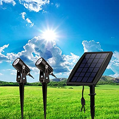 W-LITE Red LED Landscape Solar Spot Lights