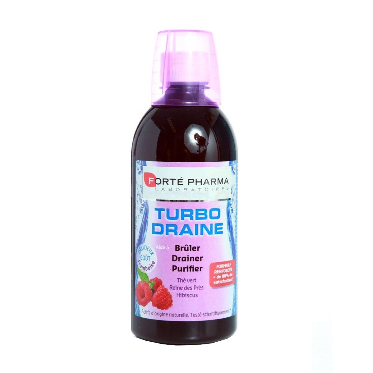Amazon.com: Forte Pharma Turboslim Drainer Raspeberry 500ml: Health & Personal Care